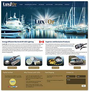 LuxOr Marine website